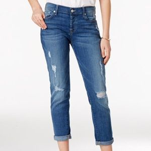 7 for all mankind Josefina Boyfriend Jeans size 24